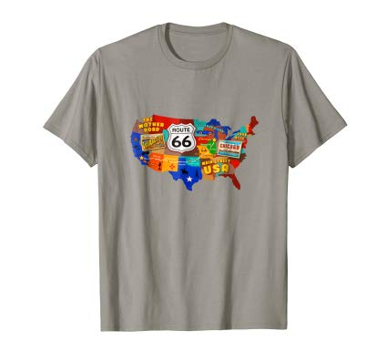 ROUTE 66 T Shirt Retro Roadtrip on Route 66 Tee Shirt