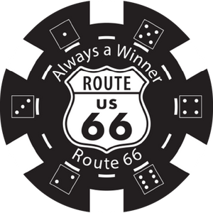 Route 66 Poker Chips- Set of 100