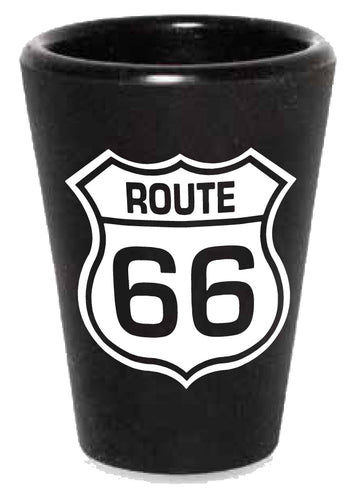 Route 66 Branded Rubber Shot Glass