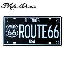 Load image into Gallery viewer, [ Mike86 ] RT2450 ROUTE 66 ILLIONIS Vintage License Plate Number Retro Art wall decor House Bar D-30 mix order 30*15 CM