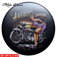Load image into Gallery viewer, [ Mike Decor ] Route 66 GET YOUR KICKS Circular sign Metal Painting Retro Gift Craft Bar Pub Room decor YA-944 Mix order