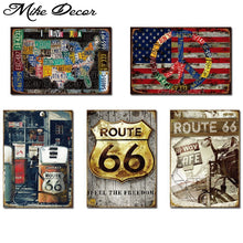 Load image into Gallery viewer, [ Mike86 ] Whoelsale tin signs USA Style Route 66 Metal painting Vintage sign RA-001 20*30 CM