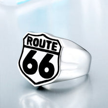 Load image into Gallery viewer, BEIER Stainless Steel USA Road ROUTE 66 Ring For Men Motor Biker Men's Jewelry vintage style free shipping BR8-126