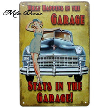 Load image into Gallery viewer, [ Mike86 ] Route 66 Pinup Lady Retro Metal Plaque Bar Home Public Decor Vintage Wall art Craft 20*30 CM Mix Items AA-1056