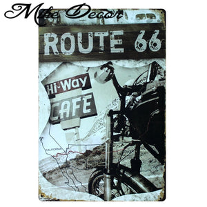 [ Mike86 ] Route 66 Hi Way Cafe Motor Metal signs wall decor House Office Bar Metal Painting art  B-152 Mix order 20*30 CM