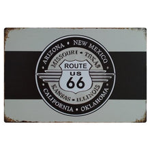 Load image into Gallery viewer, Route Metal Tin Sign Retro Wall Art Painting Poster Plaque Wall Art Plates For Pub Bar Home Decor Route 66 Wall Painting Decor