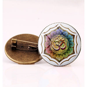 Suteyi Artistic Picture Route 66 Signs Brooches Charming Men And Women Gifts Round Glass Cabochon Pins Handmade Brooch
