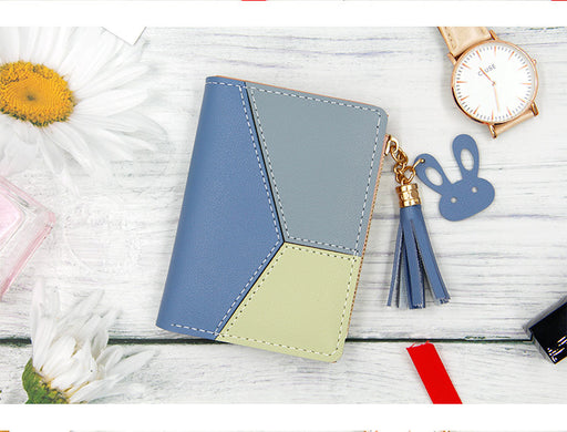 Korean Bunny Zipper Wallet Women Blue