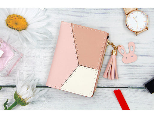 Korean Bunny Zipper Wallet Women Pink