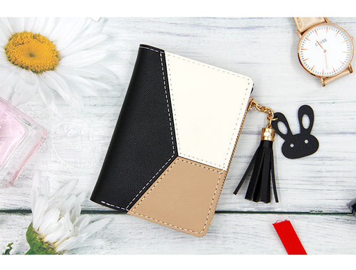 Korean Bunny Zipper Wallet Women Black