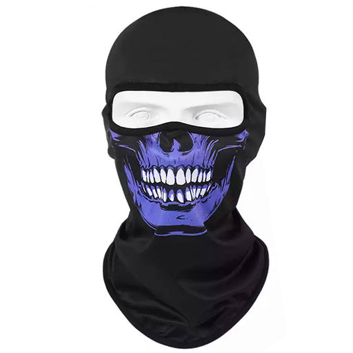 UV Protection Balaclava Dark Blue Skull