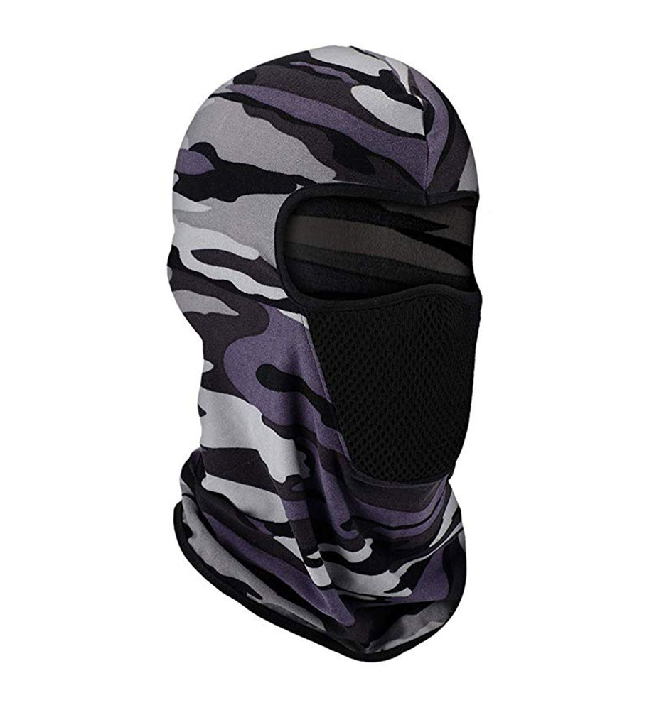 Premium UV Protection Balaclava Grey Camo