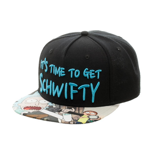 Bioworld Rick and Morty - Time to Get Schwifty Snapback Hat