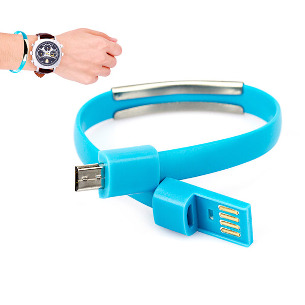 Pulseira Carregador via USB, Celular Android e Windows Phone