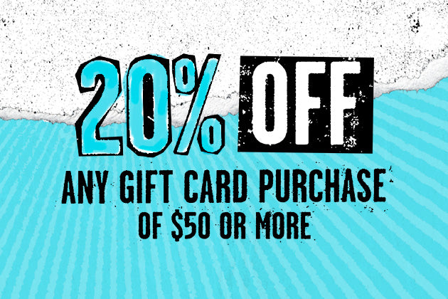20% OFF Any Gift Card Purchase of $50+