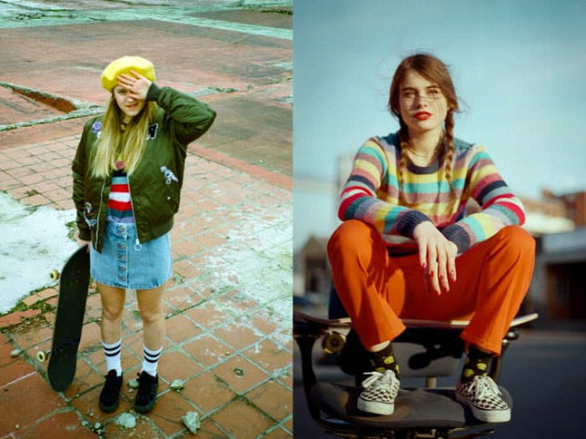 Interview with Skater Babes and Outfit Inspo in our Georgia May Jagger Spring Collection