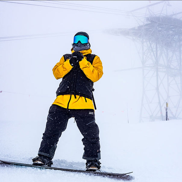 Bryan Iguchi in his signature Volcom Outerwear collection