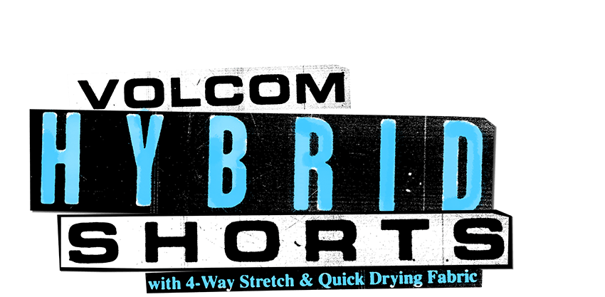 volcom hybrid shorts with 4-way stretch & quick drying fabric