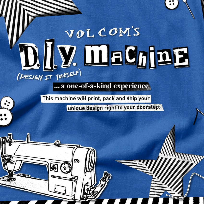 volcom's diy machine a one of a kind experience
