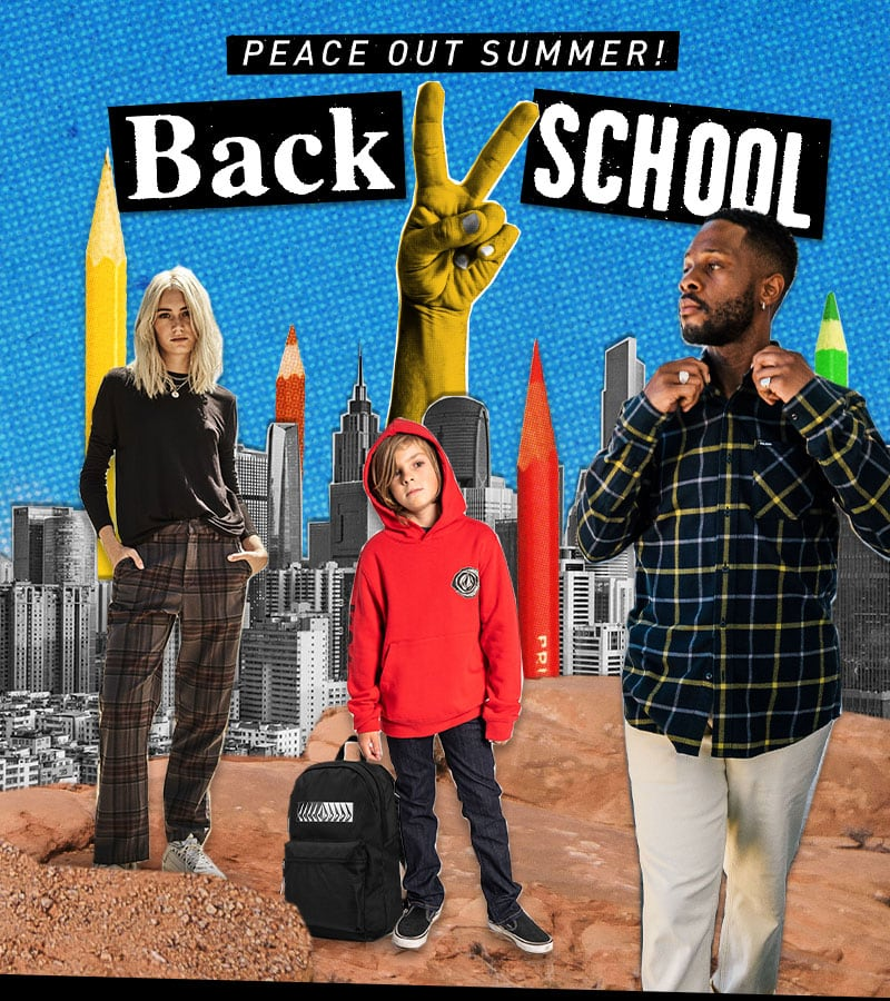 peace out summer back to school kids standing backpack