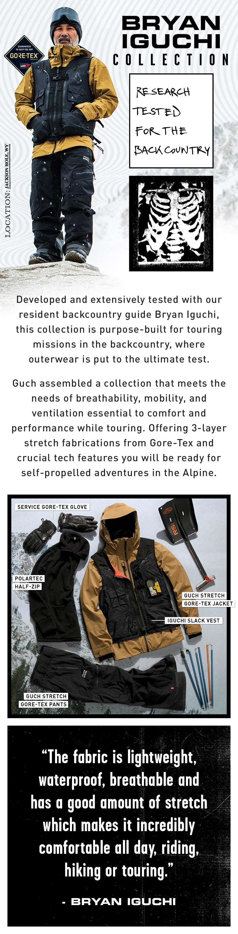 bryan iguchi collection research tested for the backcountry