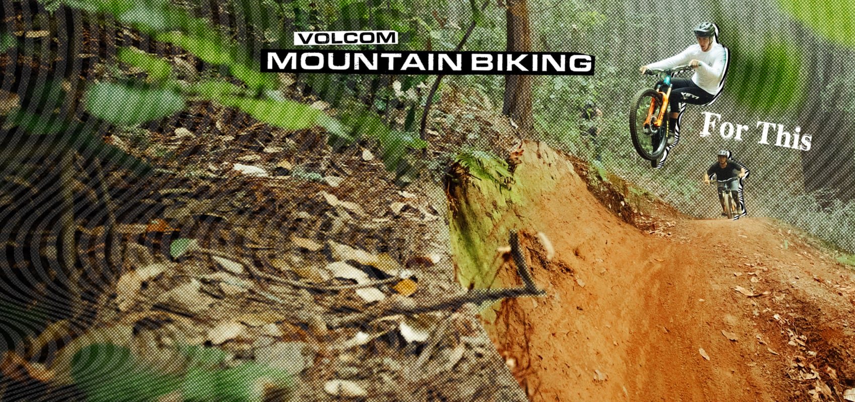 mountain biker going off a jump