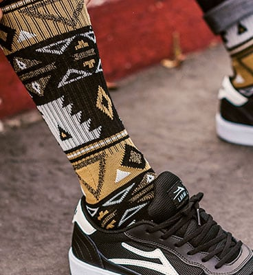 Volcom X Girl Skateboards Sock - Sand Dune