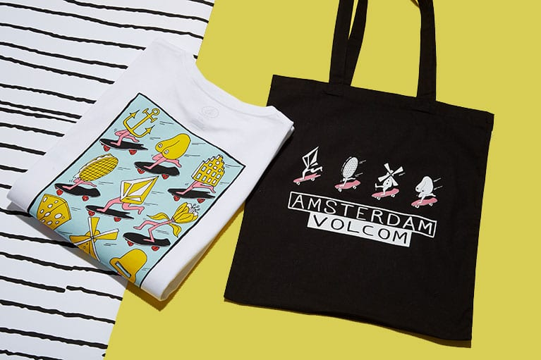 t-shirt and tote bag
