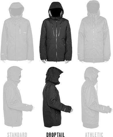 Mens Droptail Fit Jackets