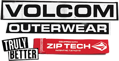 Volcom outerwear equipped with Zip-Tech