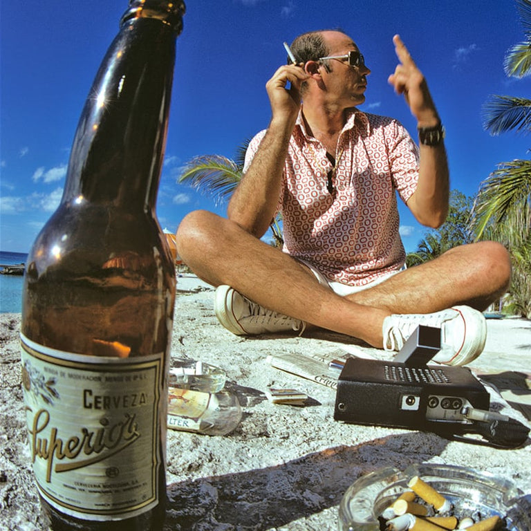 Hunter S Thompson in Cozumel Mexico 197