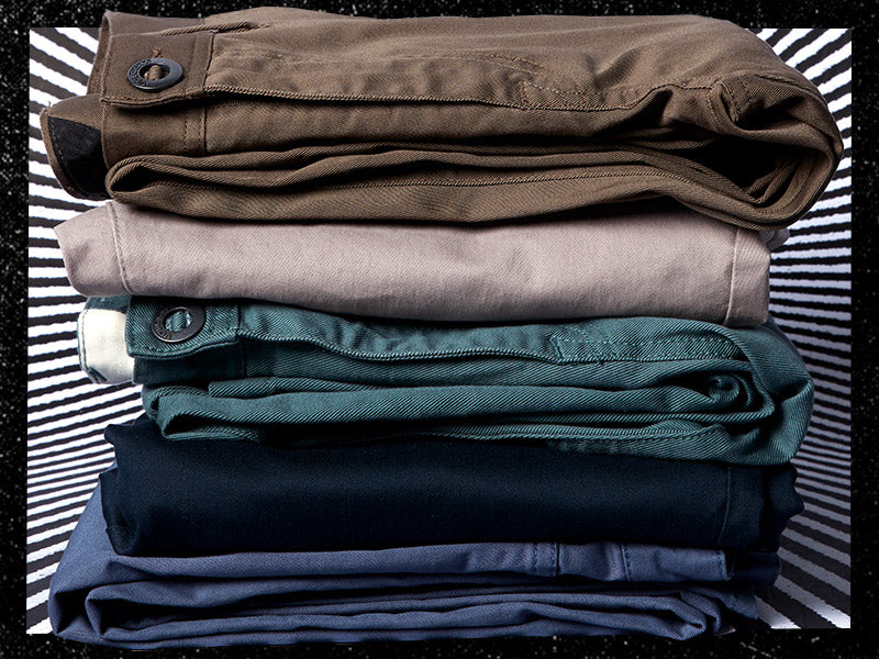 Volcom Brand Chinos Stacked