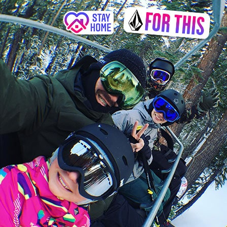 Ryan Immegart on chairlift with his family
