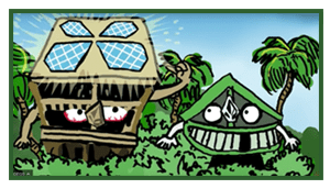 volcom hawaii houses as cartoons
