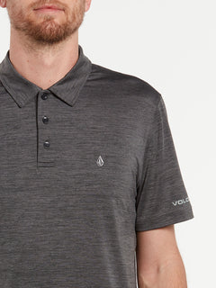 Wowzer Hazard Performance Polo - Heather Black