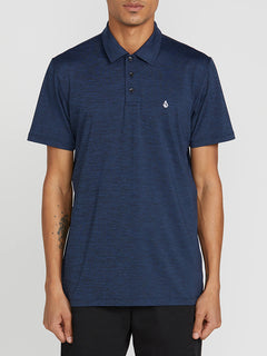 Wowzer Hazard Performance Polo In Navy Heather, Front View