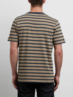 Briggs Crew Tee In Sand Brown, Back View