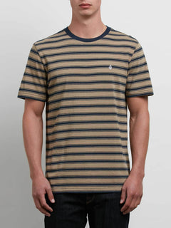 Briggs Crew Tee In Sand Brown, Front View