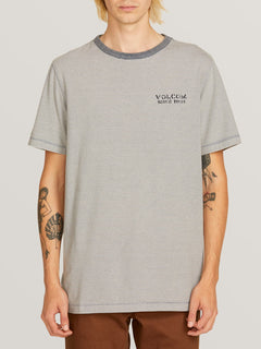 Feeder Crew Short Sleeve Tee In Indigo, Front View