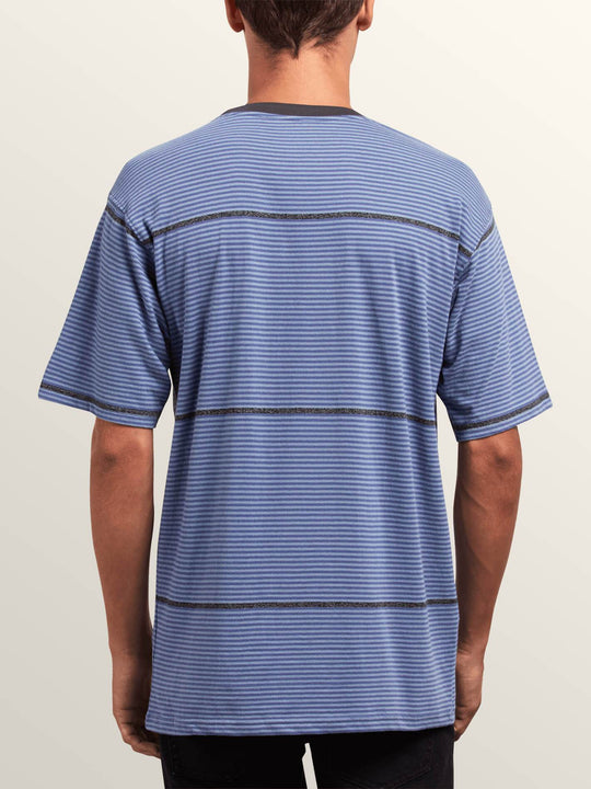 Noa Noise Short Sleeve Shirt In Stone Blue, Back View