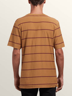 Randall Crew Short Sleeve Tee In Old Gold, Back View