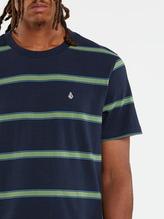 Da Fino Stripe Crew Short Sleeve - Navy (A0132003_NVY) [1]
