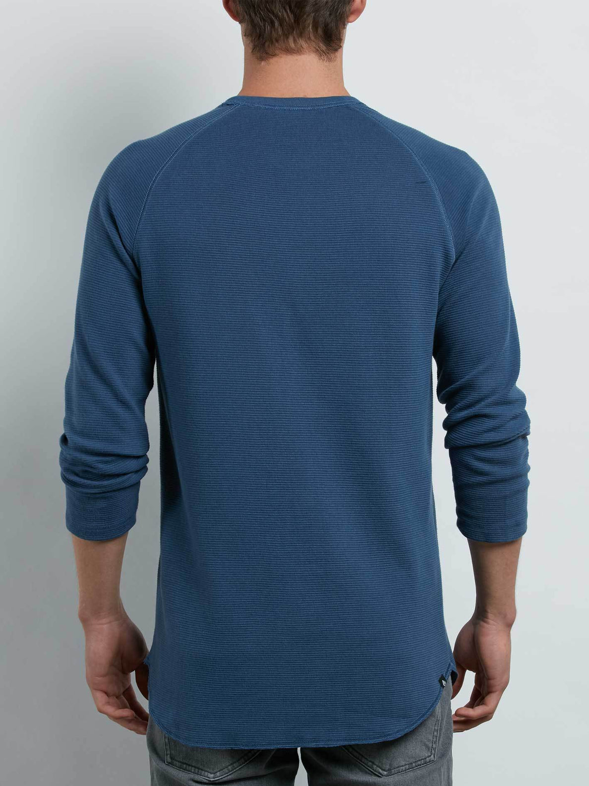 Warren 3/4 Raglan In Deep Blue, Back View