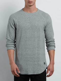 Warren 3/4 Raglan In Mist, Front View