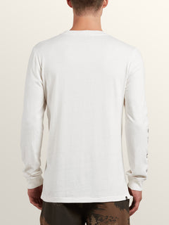 Freestate Long Sleeve Hoodie In White Flash, Back View