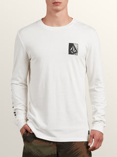 Freestate Long Sleeve Hoodie In White Flash, Front View
