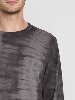 Chill Dye Long Sleeve Crew - Black (A0341901_BLK) [1]