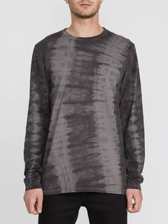 Chill Dye Long Sleeve Crew - Black (A0341901_BLK) [F]