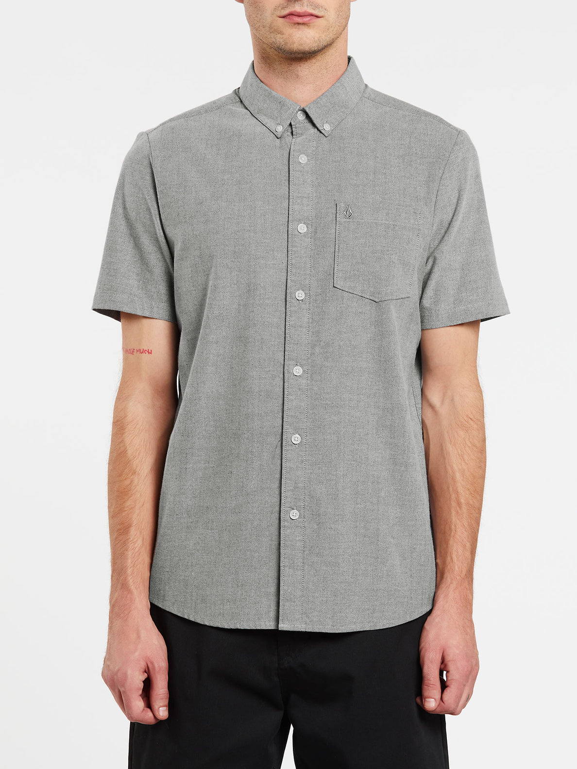Everett Oxford Short Sleeve - Black