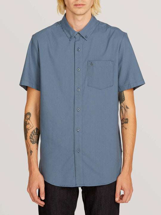 Everett Oxford Short Sleeve Shirt - Indigo